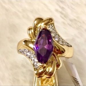 Jewelry - Ring:🔥was $45 Simulated Amethyst & Diamond